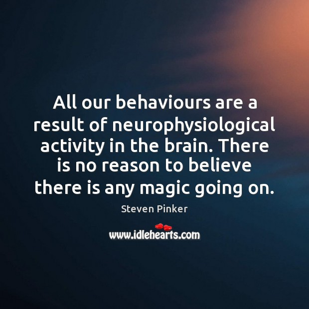 Image, All our behaviours are a result of neurophysiological activity in the brain.