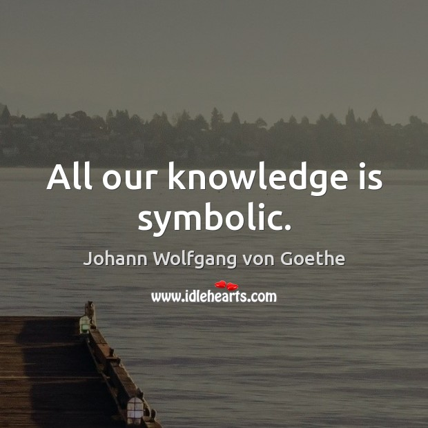 All our knowledge is symbolic. Knowledge Quotes Image