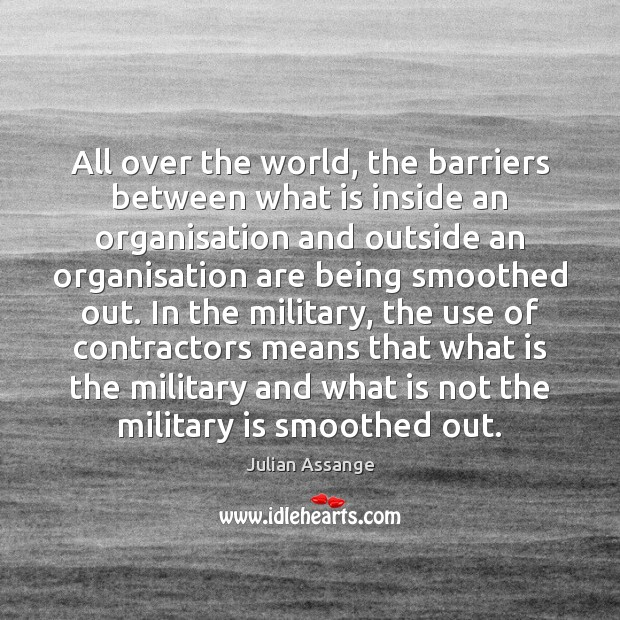 All over the world, the barriers between what is inside an organisation Image
