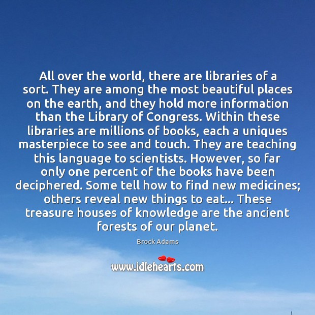 Image, All over the world, there are libraries of a sort. They are