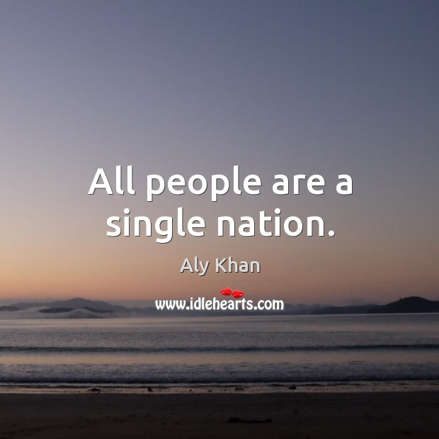 Image, All people are a single nation.