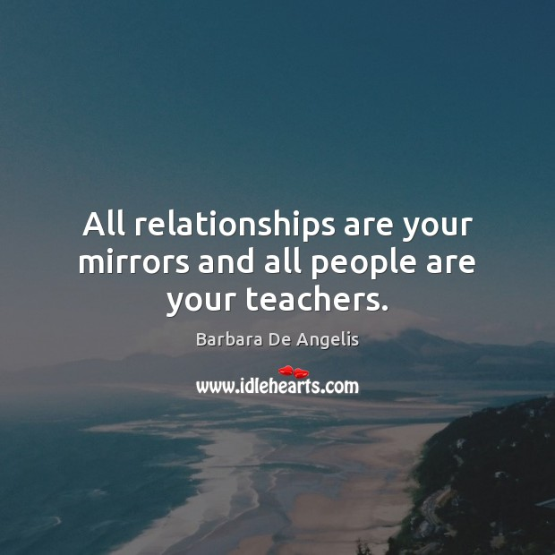 Image, All relationships are your mirrors and all people are your teachers.