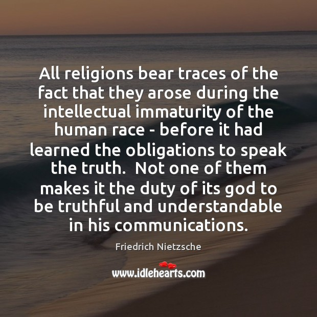 Image, All religions bear traces of the fact that they arose during the