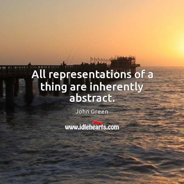 All representations of a thing are inherently abstract. Image