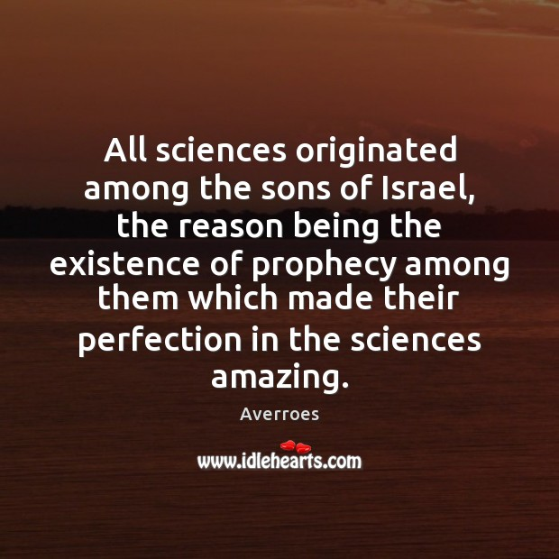 Image, All sciences originated among the sons of Israel, the reason being the