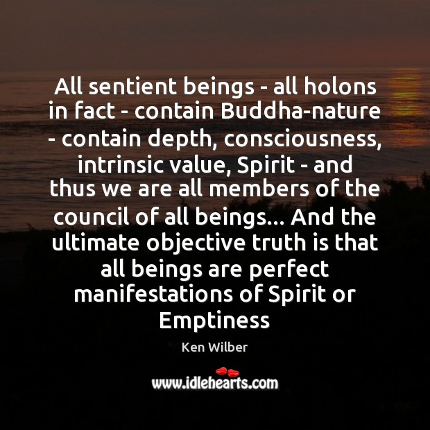 All sentient beings – all holons in fact – contain Buddha-nature – Image