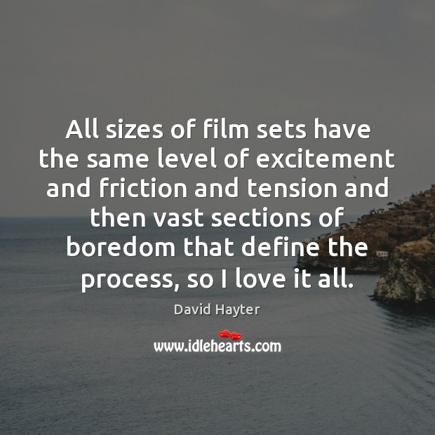 All sizes of film sets have the same level of excitement and Image