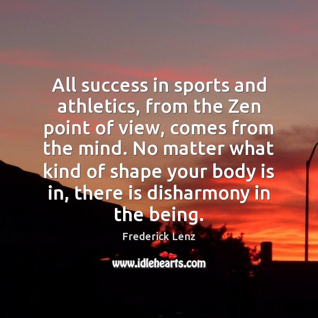 Image, All success in sports and athletics, from the Zen point of view,
