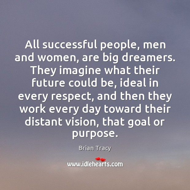 All successful people, men and women, are big dreamers. They imagine what Image