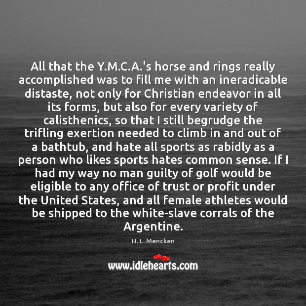 Image, All that the Y.M.C.A.'s horse and rings really