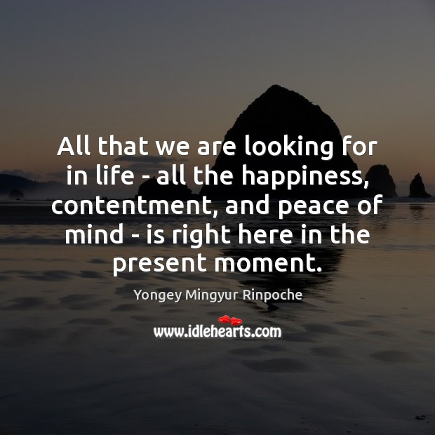 All that we are looking for in life – all the happiness, Image