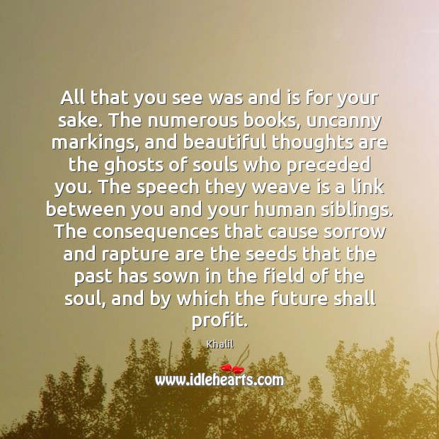 Image, All that you see was and is for your sake. The numerous