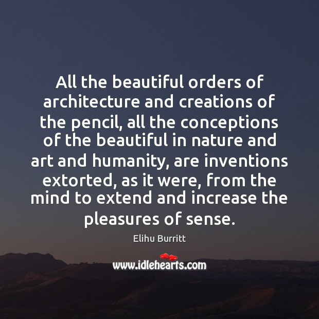 All the beautiful orders of architecture and creations of the pencil, all Image