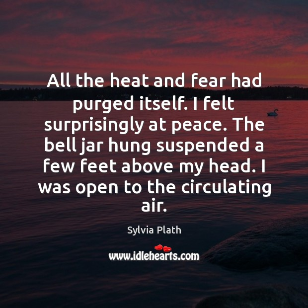 All the heat and fear had purged itself. I felt surprisingly at Image