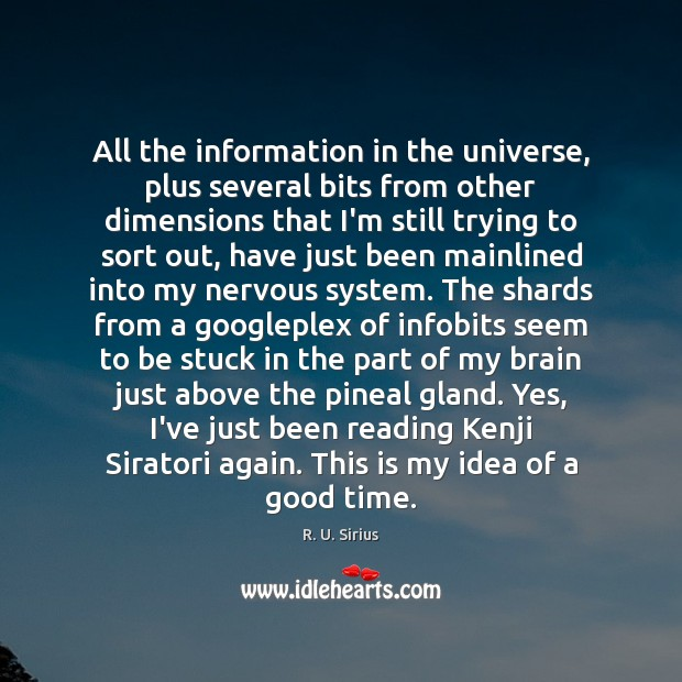 All the information in the universe, plus several bits from other dimensions Image