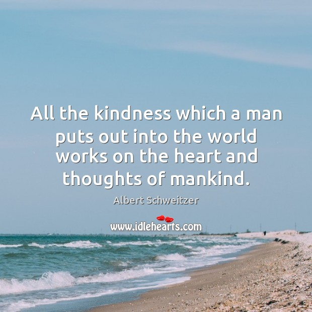 Image, All the kindness which a man puts out into the world works