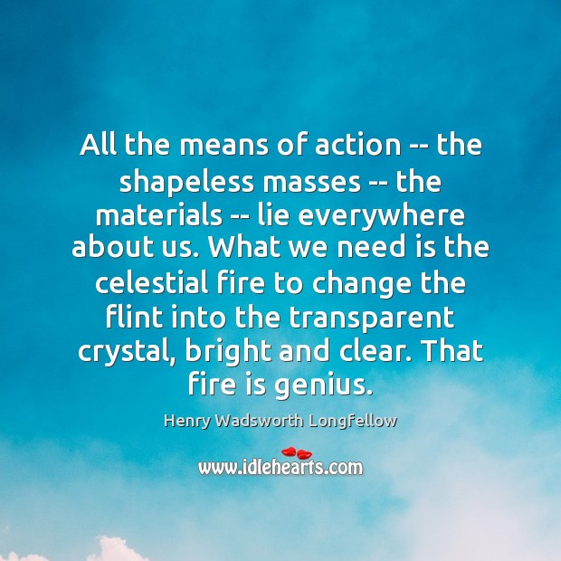 Image, All the means of action — the shapeless masses — the materials