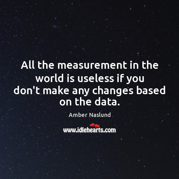Image, All the measurement in the world is useless if you don't make