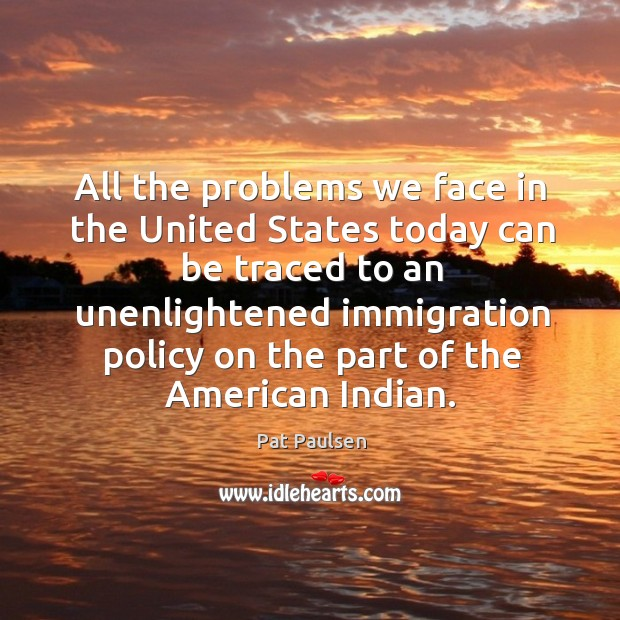 an introduction to the immigration problem in the united states Most of the countries like united states can never end illegal immigration since they benefit the employers and the government too for example at mexico in the united states which is the largest source country for illegal immigrants.