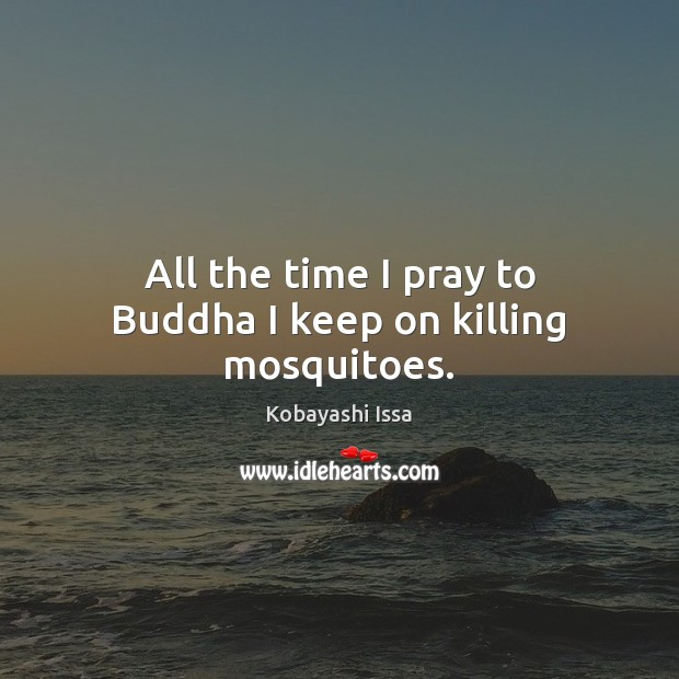 All the time I pray to Buddha I keep on killing mosquitoes. Image