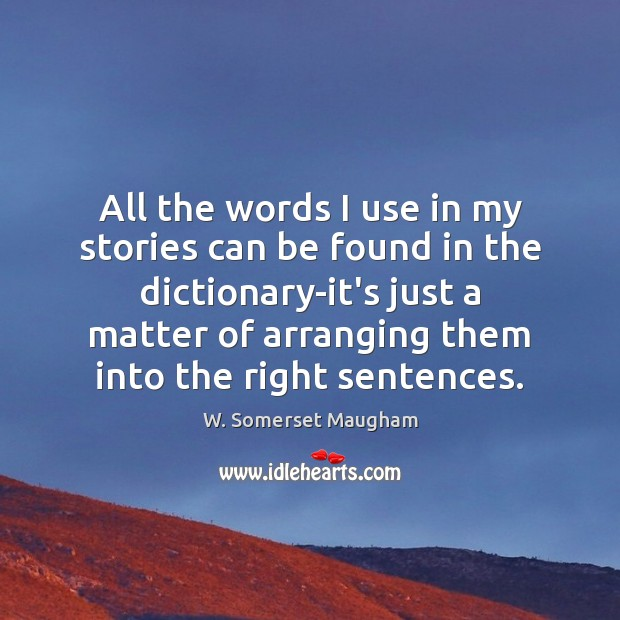 All the words I use in my stories can be found in Image