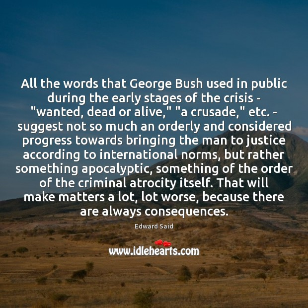 Image, All the words that George Bush used in public during the early