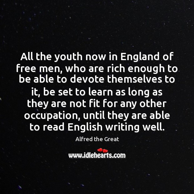 Image, All the youth now in England of free men, who are rich
