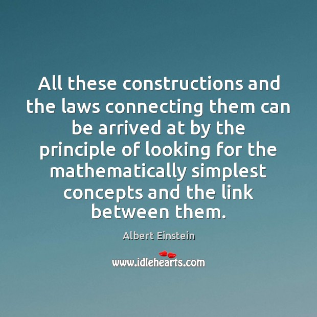 Image, All these constructions and the laws connecting them can be arrived at