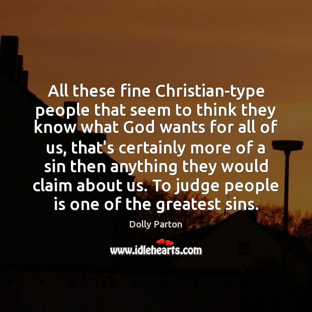 Image, All these fine Christian-type people that seem to think they know what