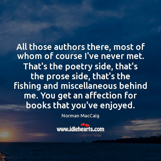 All those authors there, most of whom of course I've never met. Image