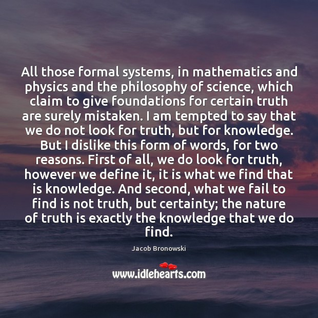 Image, All those formal systems, in mathematics and physics and the philosophy of