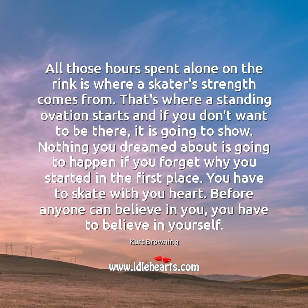 All those hours spent alone on the rink is where a skater's Believe in Yourself Quotes Image
