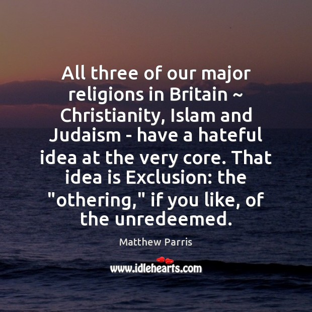 All three of our major religions in Britain ~ Christianity, Islam and Judaism Image