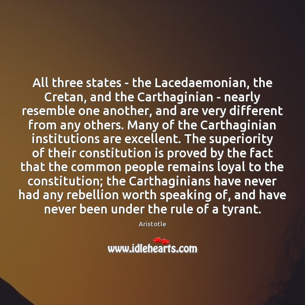 All three states – the Lacedaemonian, the Cretan, and the Carthaginian – Image