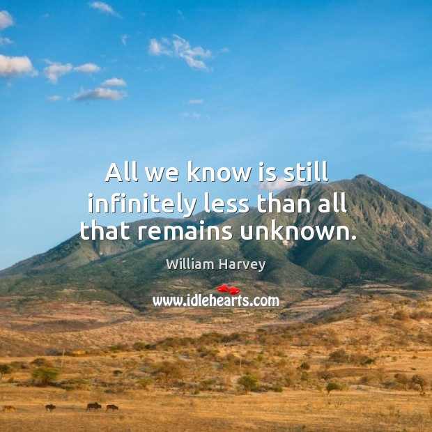 All we know is still infinitely less than all that remains unknown. Image