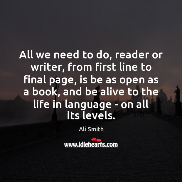 Image, All we need to do, reader or writer, from first line to