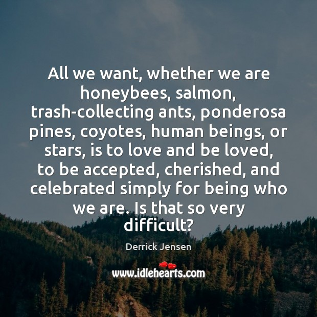 All we want, whether we are honeybees, salmon, trash-collecting ants, ponderosa pines, Image