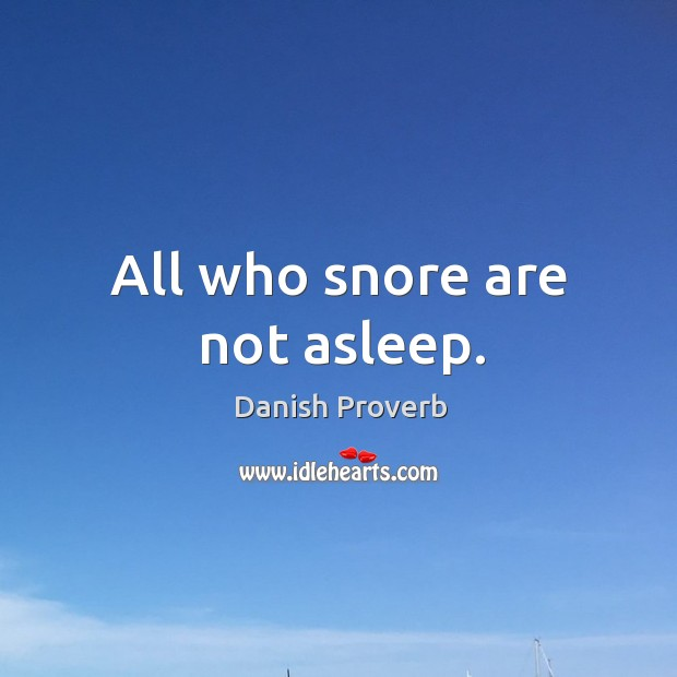 Image, All who snore are not asleep.