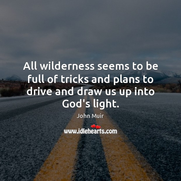 All wilderness seems to be full of tricks and plans to drive John Muir Picture Quote