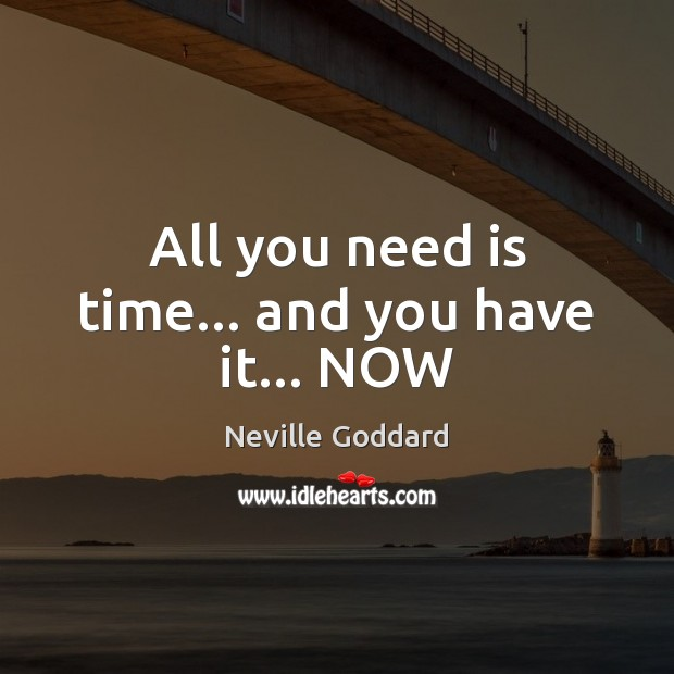 All you need is time… and you have it… NOW Image