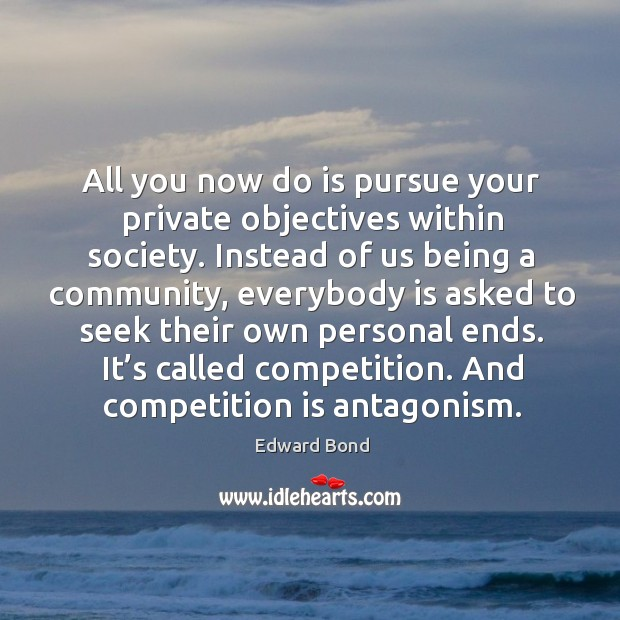 All you now do is pursue your private objectives within society. Image