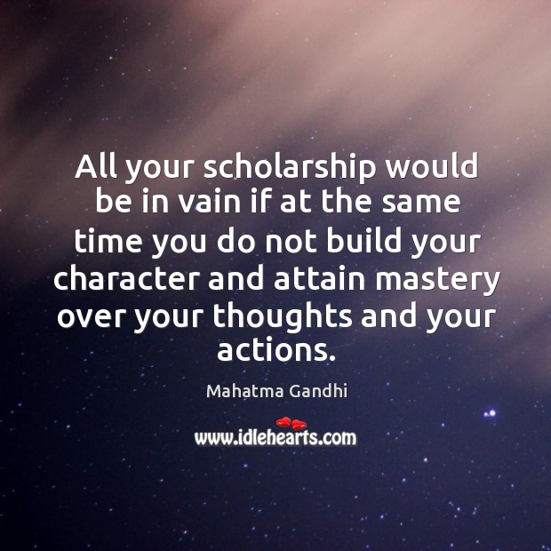 All your scholarship would be in vain if at the same time Image