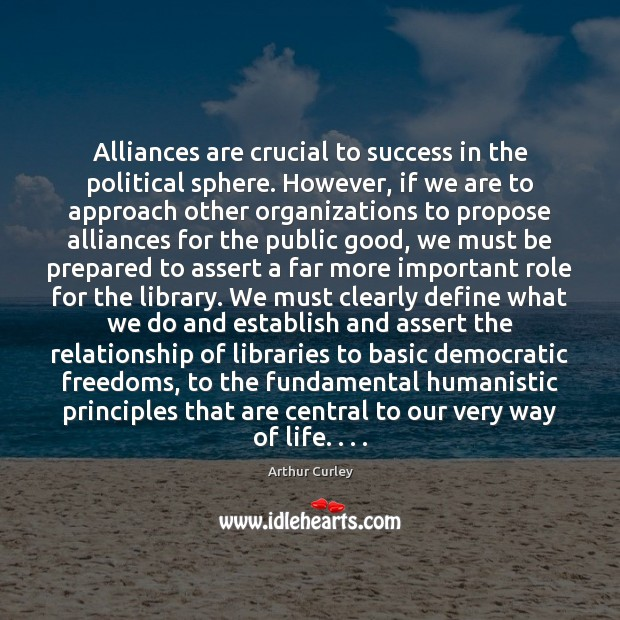 Image, Alliances are crucial to success in the political sphere. However, if we
