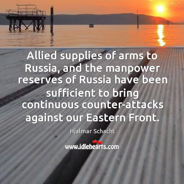 Allied supplies of arms to russia, and the manpower Image