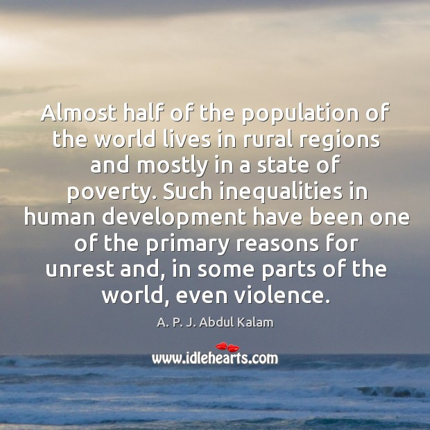 Almost half of the population of the world lives in rural regions and mostly in a state of poverty. Image