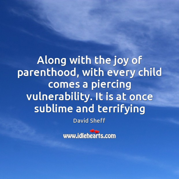 Along with the joy of parenthood, with every child comes a piercing Image