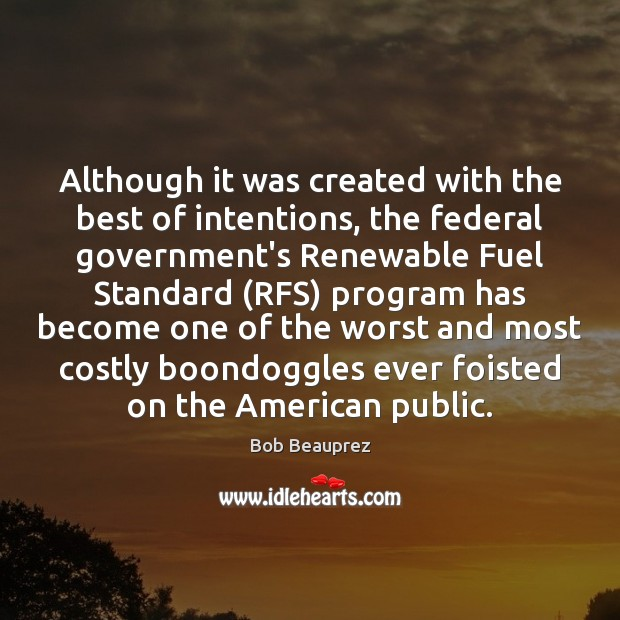 Although it was created with the best of intentions, the federal government's Image