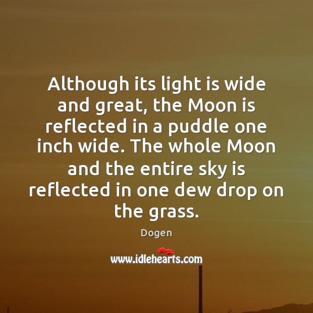 Although its light is wide and great, the Moon is reflected in Image