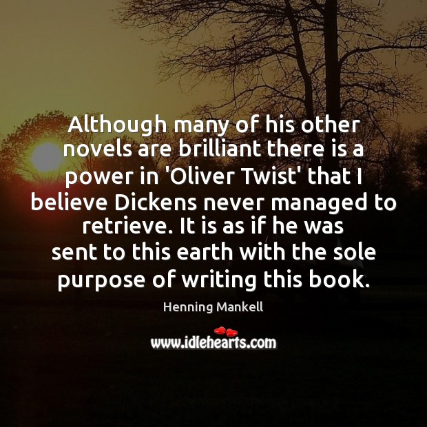 Image, Although many of his other novels are brilliant there is a power
