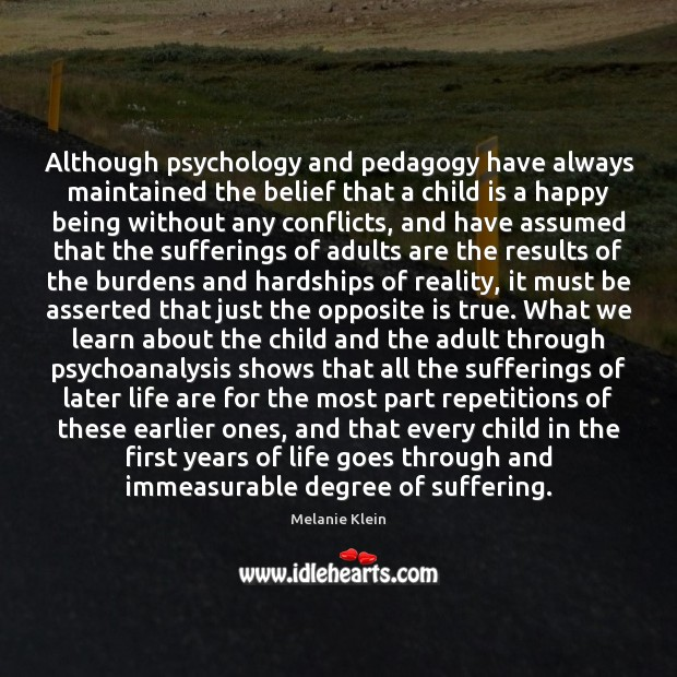 Image, Although psychology and pedagogy have always maintained the belief that a child